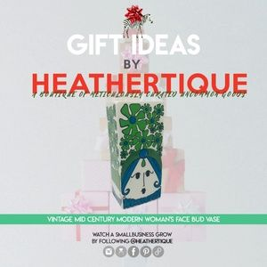 Gift Ideas  MCM Mod Woman's Face Bud Vase